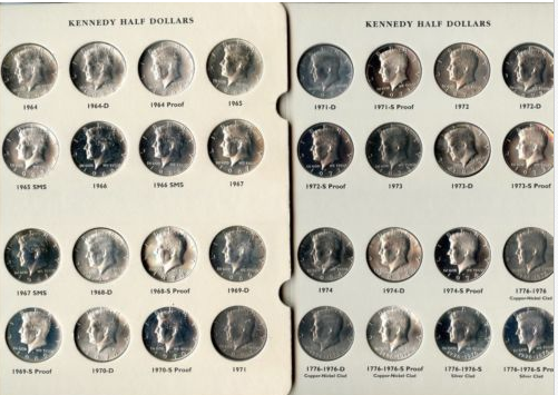 1964-2012 S ~ KENNEDY SILVER HALF DOLLAR SET ~ INCLUDES 2012 S SILVER X5276